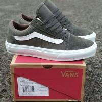 Sepatu Vans Oldskool OG Trainer Mono Olive Premium BNIB Quality