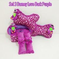bantal mobil set 3 Barney Love Ungu Tua
