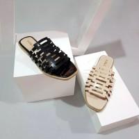 Pollenzo MEGA Sandal Teplek | Flat Wanita Laser Kronjo