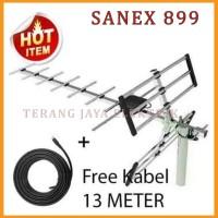 Antena TV outdoor/Antena Luar digital/analog + Kabel 13m SANEX - 899DG