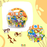 Mainan Edukasi Bayi Piano Suara Hewan LaguCY6053B Animal Cartoon Piano