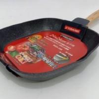 Grill Pan Marble 24 cm, 28 cm Induksi Yoshikawa Panggangan BBQ Griller