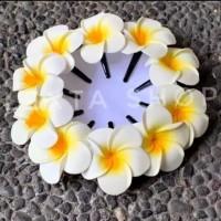 Jepitan /aksesoris/hiasan rambut bunga kamboja adat bali harga /pcs