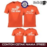 Kaos Baju Family - Couple Keluarga gratis Cetak Tulis Custom Nama