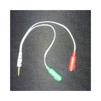 HSM Audio Mic Splitter Combiner Adapter for Headset Handsfree aux spli