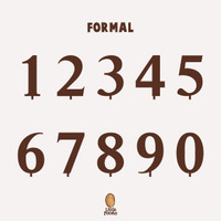 Mini Cake Topper (Tusukan Kue Kecil): Number [Nomor/Angka] - Formal