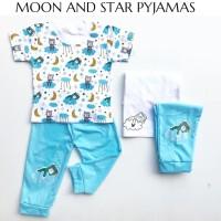 MOON AND STAR PYJAMAS anak stelan anak perlengkapan babeebabyshop