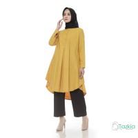 Atasan Muslim Wanita   Azkia Tunik Kuning   Toyobo   Tazkia Hijab