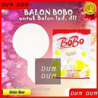 BALON PLASTIK BOBO TRANSPARAN PUTIH UKURAN BESAR UNTUK BALON LAMPU LED