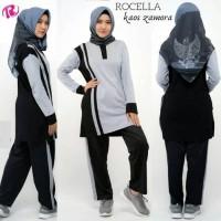 Setelan Olahraga Wanita Muslim, Seragam Olahraga Baju+Celana Training