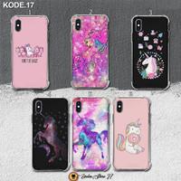 Custom Case Anti Crack Soft 2D Kuda Unicorn Kode 17 All Type - 01