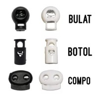 STOPPER TALI TAS SERUT / TALI KUR @500 PC Stopper Bulat / Botol / Comp