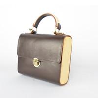 Tas Bambu Kulit asli / Leather & Bamboo purse (brown)