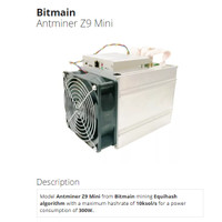 Bitmain Antminer Z9 Mini 10 Ksol Equihash