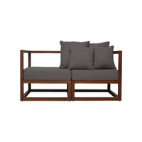 CUBIX SERIES - Kursi Tamu Sofa Modern Minimalis (AC,AC) - XIONCO - Abu-abu, Rangka Gelap