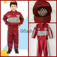 Kostum Profesi Anak Pembalap Mobil F1 Racer Baju Seragam Kijang - 2