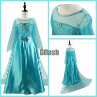 Kostum Anak Elsa Frozen Baju Dress Gaun Pesta Ulang Tahun Princess