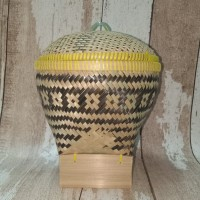 bakul nasi bambu tutup (kualitas super)