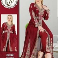 Baju Gamis Wanita Terbaru Gaun India Maxi Dress Danila Pink