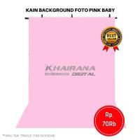 Kain Background Backdrop latar layar alas Foto pink baby 1m x 2.5m