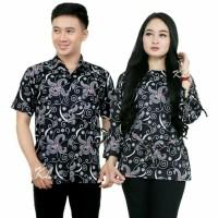 cauple bluse remaja batik pasangan baju pria wanita termurah prw54