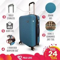 Tas Travel Koper Polo 24 Inch Fiber Hardcase Roda 4 Murah