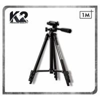 Tripod 3120 FULL BLACK 1Meter + Holder U Universal