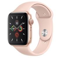 Apple Watch Series 5 44mm Aluminium Gold Pink Sand Sport Band Resmi