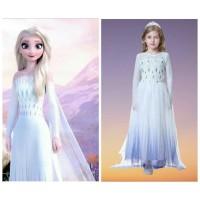 Kostum Frozen 2 Dua Elsa 28 Dress Baju Anak Putri Princess Putih Ungu