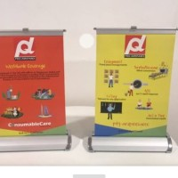 Roll up banner mini stand standing banner