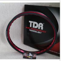 Velg Rim TDR Wx Shape 2 Tone Ring 17 x 140 Hitam Merah Black Red