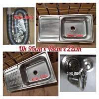 Murah Bak Cuci Piring kitchen sink westafel Terlaris Minimalis 95cm