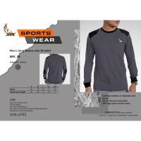 SRX 39 Tactical Wear T-Shirt Slim Fit Grey/Black Lengan Panjang