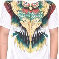 Kaos Baju Gambar Motif Burung Hantu Owl Binatang Pria Wanita Unik