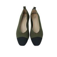 Les Femmes Flat Shoes Black/ Sepatu Wanita - WFS191103377