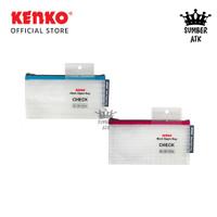 KENKO MESH ZIPPER BAG MZB1-CH CHECK / Hand BAG / Tempat Pena Pensil