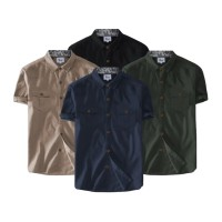 Baju Kemeja Tactical Casual Polos Lengan Pendek Fashion Pria Terbaru