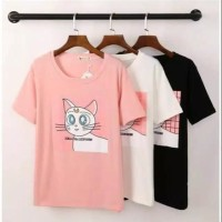 kaos cat kucing baju atasan wanita anak anak remaja tshirt t shirt