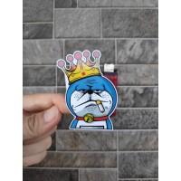Stiker Vinyl Doraemon Smoking Karakter Motor Helm Laptop HP Print Cut