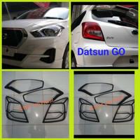 Paket Garnish List Lampu Datsun Go Depan Belakang Hitam Dop JSL