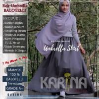 Rok Umbrella Balotelli ORIGINAL Polos Full Karet Pinggang (Hitam)
