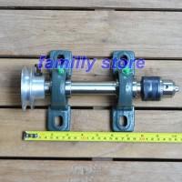 as mesin bubut kayu headstock drill chuck kepala bor 13mm as 1inc 25cm