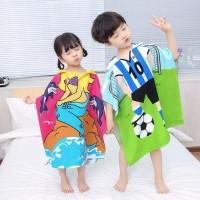 Kids Hooded Towel / Baju Handuk Hoodie Ponco Topi Renang Anak Unisex