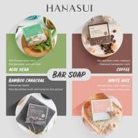 HANASUI SABUN BATANG ALOEVERA CHARCOAL COFFEE RICE - BAR SOAP HANASUI