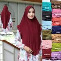 Hijab MELOVA Pinguin Jersey Rempel / Jilbab Khimar Instan Pet Antem