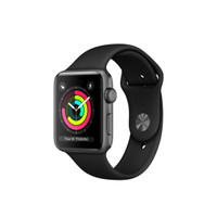 Apple Watch Series 3 42mm Gray Aluminum Black Sport Band Resmi iBox