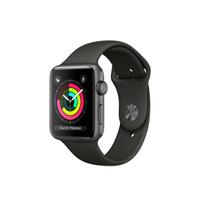 Apple Watch Series 3 38mm Gray Aluminum Black Sport Band Resmi iBox
