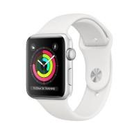 Apple Watch Series 3 38mm Silver Aluminum White Sport Band Resmi iBox