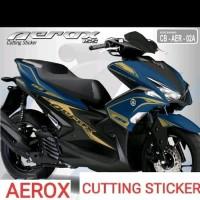 STRIPING CUTTING STICKER AEROX motor black sticker gold