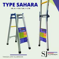 Tangga Lipat Aluminium Sahara Biru 1 m / 100 cm - Kuat & Berkualitas